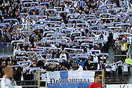 2.9.2011, Olympiastadion, Helsinki..UEFA European Championship 2012 Qualifying match, Finland v Moldova / EM-karsintaottelu Suomi - Moldova..Maajoukkueen fanit pohjoiskaarteessa..