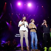 NLD/Amsterdam/20121117 - Danny de Munk 30 jaar in het vak, Roxeanne Hazes met broer Dre Hazes en Danny de Munk