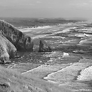 Sea Lion Caves South Overlook - Oregon Coast - Black & White