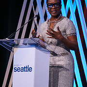Visit Seattle Annual Meeting 2018.  Michelle Mason CEO of Association Forum. Photo by Alabastro Photography.
