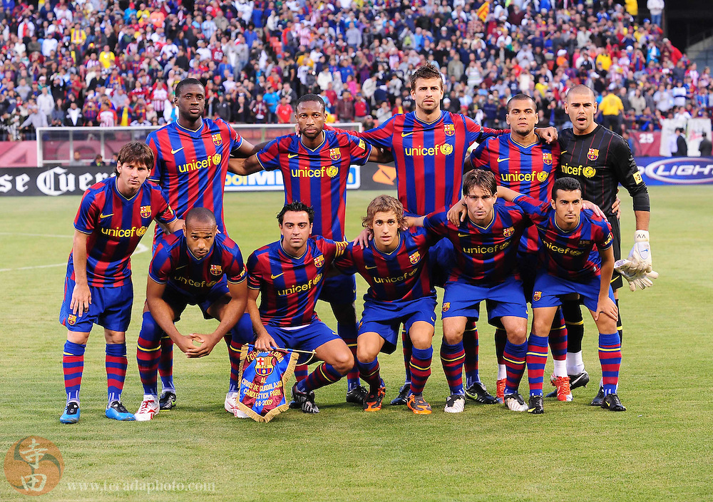 August 8, 2009; San Francisco, CA, USA; FC Barcelona team poses for a picture before the match against Chivas de Guadalajara in the Night of Champions international friendly contest at Candlestick Park.
