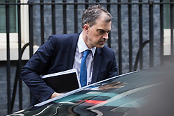 London, UK. 4th December, 2018. Julian Smith MP, Chief Whip, leaves 10 Downing Street following a Cabinet meeting on the day on which MPs will begin to debate Prime Minister Theresa May's Brexit agreement in the House of Commons.