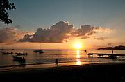 Sunset and sailboats, Esperanza, Viecques, Puerto Rico