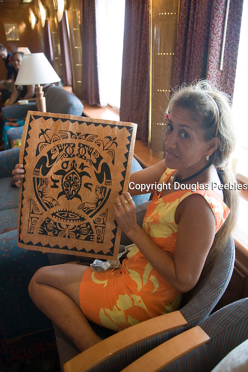 Tapa cloth, Marquesas, French Polynesia, (Editorial use only)<br />