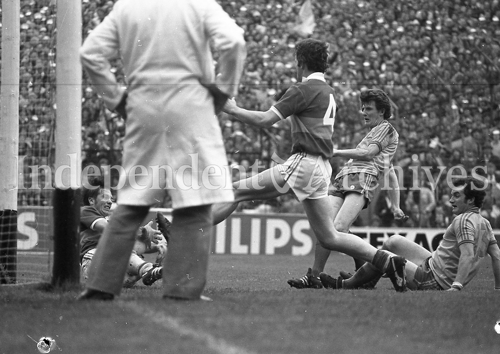 Kerry (winners) v  Roscommon in the1980 All-Ireland football final at Croke Park September1982  (Part of Independent Newspapers Ireland/NLI Collection)