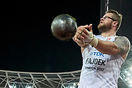 Great Britain, London - 2017 August 11: Pawel Fajdek (Agros Zamosc) of Poland competes in men's hammer throw final during IAAF World Championships London 2017 Day 8 at London Stadium on August 11, 2017 in London, Great Britain.<br /> <br /> Mandatory credit:<br /> Photo by © Adam Nurkiewicz<br /> <br /> Adam Nurkiewicz declares that he has no rights to the image of people at the photographs of his authorship.<br /> <br /> Picture also available in RAW (NEF) or TIFF format on special request.<br /> <br /> Any editorial, commercial or promotional use requires written permission from the author of image.