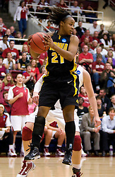 March 22, 2010; Stanford, CA, USA;  Iowa Hawkeyes guard Kachine Alexander (21) grabs a rebound against the Stanford Cardinal during the second half in the second round of the 2010 NCAA womens basketball tournament at Maples Pavilion. Stanford defeated Iowa 96-67.