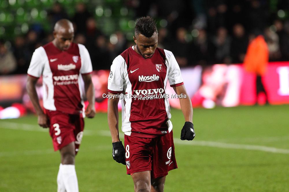 Deception Metz - Cheick DOUKOURE - 20.12.2014 - Metz / Monaco - 17eme journee de Ligue 1 -<br />Photo : Fred Marvaux / Icon Sport