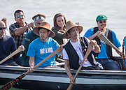 HAIDA GWAII- BC- CANADA- 30th Sept-2016 <br /> <br /> Prince William, the Duke of Cambridge and Princess Catherine, the Duchess of Cambridge visit the remote community of Haida Gwaii in northern British Colombia on the penultimate day of their visit to Canada.<br /> William and Kate join local children with a fishing trip.<br /> ©Exclusivepix Media