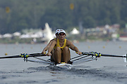Poznan, POLAND.  2006, FISA, Rowing World Cup, AUS W2X  bow Dana FELETIC and Sally KEHOE, move away from the start pontoon at the   'Malta Regatta course;  Poznan POLAND, Fri. 16.06.2006. © Peter Spurrier   ....[Mandatory Credit Peter Spurrier/ Intersport Images] Rowing Course:Malta Rowing Course, Poznan, POLAND