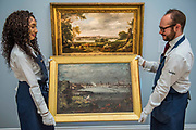 John Constable, Dedham Vale with the River Stour in Flood estimate of £2-3 million and sketch for The Opening ofWaterloo Bridge, est. £1-1.5 million - London Old Masters Evening sale exhibition at Sotheby's New Bond Street. The sale takes palce on 6 December 2017 covers 400 years of art history.