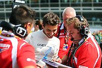Jules Bianchi (FRA) Marussia F1 Team on the grid.<br /> Italian Grand Prix, Sunday 7th September 2014. Monza Italy.