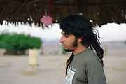 Man at Middle East Tek Festival in Wadi Rum, Jordan, October 2008