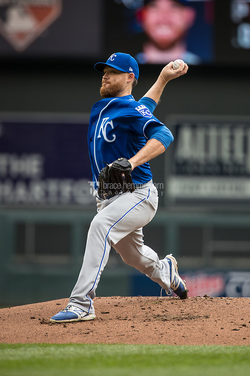 MINNEAPOLIS, MN- APRIL 5: Ian Kennedy #31 of the Kansas City Royals pitches against the Minnesota Twins on April 5, 2017 at Target Field in Minneapolis, Minnesota. The Twins defeated the Royals 9-1. (Photo by Brace Hemmelgarn) *** Local Caption *** Ian Kennedy