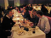 Paddy Sutton ( left )  and Jo Craven. Tuscan Steak relaunch, 11 January 2001. St. Martin's Lane hotel restaurant re-launch. 10 January 2001. © Copyright Photograph by Dafydd Jones 66 Stockwell Park Rd. London SW9 0DA Tel 020 7733 0108 www.dafjones.com