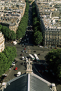 France. Paris. elevated view. Paris Bvd malesherbes view from Saint Augusrtin church bell tower