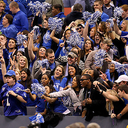 Dec 20, 2009; New Orleans, LA, USA; Middle Tennessee State Blue Raiders fans cheer in the stands during the second half of the 2009 New Orleans Bowl at the Louisiana Superdome. Middle Tennessee State defeated Southern Miss 42-32. Mandatory Credit: Derick E. Hingle-US PRESSWIRE
