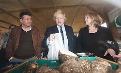 "© Licensed to London News Pictures. 23/02/2012. Wallington, Surrey. L-R: Seb Coe, Boris Johnson and Rosie Boycott, London Food Board. The Mayor of London, Boris Johnson and LOCOG Chairman Sebastian Coe today, 23 February 2012, showed off the benefits of urban food growing as they launched ""The Big Dig"" volunteer gardening weekend (16-17 March). This is all in support of Capital Growth, a scheme to create 2,012 community food growing spaces by the end of 2012.  Photo credit: Bettina Strenske/LNP"
