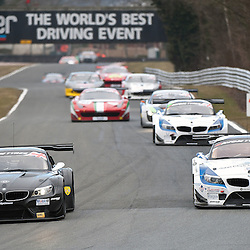 Race 1 - At the Avon Tyres British GT Championship held at Oulton Park, Cheshire, UK..888Optimum, Lee Mowle & Joe Osborne, BMW Z4 GT3, GT3 out braking Ecurie Ecosse, Marco Attard & Oliver Bryant, BMW Z4 GT3, GT3..1st April 2013 WAYNE NEAL | STOCKPIX.EU