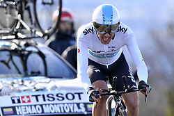 March 7, 2018 - Saint Etienne, France - SAINT-ETIENNE, FRANCE - MARCH 7 : HENAO MONTOYA Sergio Luis  (COL)  of Team SKY in action during stage 4 of the 2018 Paris - Nice cycling race, an individual time trial over 18,4 km from La Fouillouse to Saint-Etienne on March 07, 2018 in Saint-Etienne, France, 7/03/2018 (Credit Image: © Panoramic via ZUMA Press)