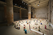 "Arsenale. International exhibition ""Fare Mondi // Making Worlds // Bantin Duniyan // ???? // Weltenmachen // Construire des Mondes // Fazer Mundos..."" curated by Daniel Birnbaum..Moshekawa Langa, ""Temporal Distance (with a criminal intent), you will find us in the best places"", 2009"
