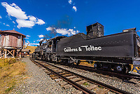 Cumbres & Toltec Scenic Railroad steam locomotive at Osier, Colroado.