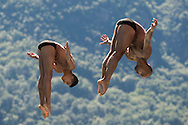 Team COLOMBIA - ORTEGA Victor GARCIA Kevin<br /> Bolzano, Italy <br /> 22nd FINA Diving Grand Prix 2016 Trofeo Unipol<br /> Diving<br /> Men's 3m synchronised springboard final<br /> Day 03 17-07-2016<br /> Photo Giorgio Perottino/Deepbluemedia/Insidefoto