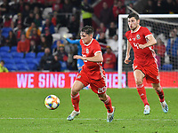 Football - 2019 / 2020 International Friendly - Wales vs. Belarus<br /> <br /> Daniel James of Wales on the attack, at Cardiff City Stadium.<br /> <br /> COLORSPORT/WINSTON BYNORTH