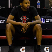 09 March 2018: San Diego State men's basketball takes on Nevada in the semi final round of the Mountain West Conference Tournament. <br /> More game action at www.sdsuaztecphotos.com