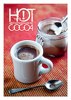 The front side of a recipe card for spicy hot cocoa mix  created by St. Louis Photographer Jonathan Gayman.