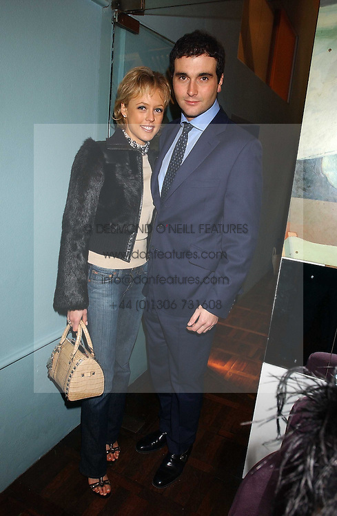 LADY ALEXANDRA SPENCER-CHURCHILL and MR DAVID PEACOCK at a party to celebrate the publication of 'E is for Eating' by Tom Parker Bowles held at Kensington Place, 201 Kensington Church Street, London W8 on 3rd November 2004.<br />