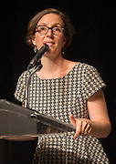 Houston ISD Board of Education president Anna Eastman addresses the Summer Leadership Institute at Reliant Center, June 18, 2013.