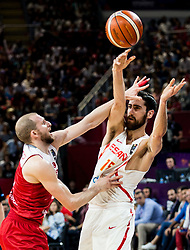 Sinan Guler of Turkey vs Joan Sastre of Spain during basketball match between National Teams of Spain and Turkey at Day 11 in Round of 16 of the FIBA EuroBasket 2017 at Sinan Erdem Dome in Istanbul, Turkey on September 10, 2017. Photo by Vid Ponikvar / Sportida