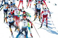 SHIPULIN Anton (RUS) and other athletes compete during Men 15 km Mass Start at day 4 of IBU Biathlon World Cup 2014/2015 Pokljuka, on December 21, 2014 in Rudno polje, Pokljuka, Slovenia. Photo by Vid Ponikvar / Sportida