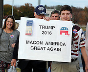 LAURA FONG - CENTER FOR COLLABORATIVE JOURNALISM - Macon's Donald Trump supporters came out to Monday night's rally at the Centerplex.