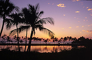 Sunset, Anaeho'omalu Bay, Kohala Coast, Island of Hawaii<br />