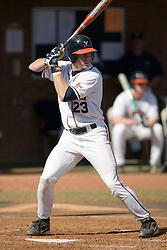 Virginia Cavaliers infielder David Adams (23) at bat against Delaware.  The Virginia Cavaliers Baseball Team defeated the Delaware Blue Hens 10-4  in the second of a three game series at Davenport Field in Charlottesville, VA on March 3, 2007.  Virginia leads the series 2 games to 0.