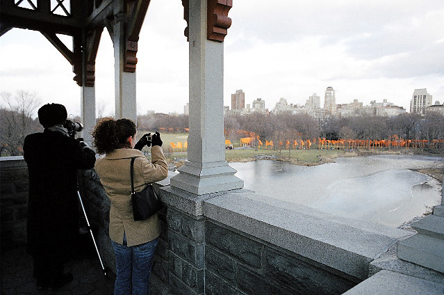 Christo and Jeanne-Claude's Gates Installation Art in Central Park, New York City, February, 2005.