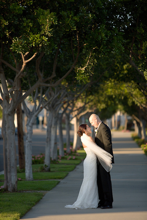 Wedding shot with photographer Jason Meyer.  Trost Wedding at Chart House restaurant.
