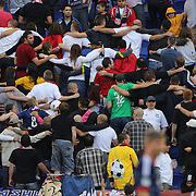 New York Red Bulls fans during the New York Red Bulls V Chicago Fire Major League Soccer regular season match at Red Bull Arena, Harrison. New Jersey. USA. 6th October 2012. Photo Tim Clayton