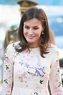 Queen Letizia of Spain attends International Summit of Cancer Research 'nternational Consultation Workshop' at Junta de Madrid of AECC on July 8, 2019 in Madrid, Spain