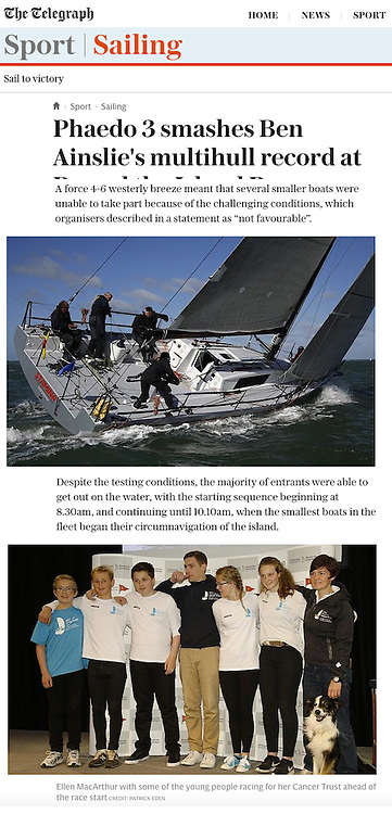 Daily Telegraph, Round the Island Race, Cowes, Isle of Wight, UK,