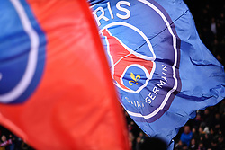 November 2, 2018 - Paris, Ile-de-France, France - The Paris Saint Germain flags waving at the first goal during the french Ligue 1 match between Paris Saint-Germain (PSG) and Lille (LOSC) at Parc des Princes stadium on November 2, 2018 in Paris, France. (Credit Image: © Julien Mattia/NurPhoto via ZUMA Press)