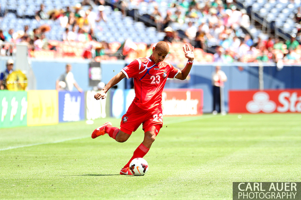 July 14 2013:  Panama Defender Roberto Chen (23) during the CONCACAF Gold Cup soccer match between Panama and Canada at Sports Authority Field in Denver, CO. USA.