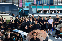 BANGKOK, THAILAND - October 26, 2017:  Hundreds of thousands of people attend the funeral of the late Thai King Bhumibol Adulyadej on October 26, 2017 in Bangkok, Thailand. Hundreds of thousands of people, dressed in black, have gathered in Bangkok over a year after the death of Thailand's popular King Bhumibol Adulyadej.  The five-day royal cremation ceremony is taking place between October 25-29 in Bangkok's historic Grand Palace and the Sanam Luang area.