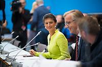 DEU, Deutschland, Germany, Berlin, 12.03.2019: Dr. Sahra Wagenknecht, Vorsitzende der Bundestagsfraktion von DIE LINKE, bei einer Fraktionssitzung von DIE LINKE im Deutschen Bundestag.