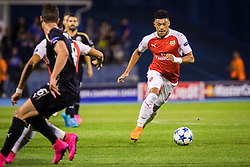 Alex Oxlade-Chamberlain #15 of Arsenal F.C. during football match between GNK Dinamo Zagreb, CRO and Arsenal FC, ENG in Group F of Group Stage of UEFA Champions League 2015/16, on September 16, 2015 in Stadium Maksimir, Zagreb, Croatia. Photo by Ziga Zupan / Sportida