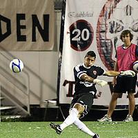 Orlando City Lions Goalkeeper Miguel Gallardo (1) kicks the ball during a United Soccer League Pro soccer match between the Wilmington Hammerheads and the Orlando City Lions at the Florida Citrus Bowl on June 18, 2011 in Orlando, Florida.  (AP Photo/Alex Menendez)