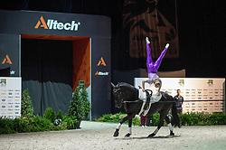 Joanne Eccles, (GBR), WH Bentley, John Eccles - Individuals Women Freestyle Vaulting - Alltech FEI World Equestrian Games™ 2014 - Normandy, France.<br /> © Hippo Foto Team - Jon Stroud<br /> 03/09/2014