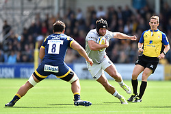 Nathan Catt of Bath Rugby in possession - Mandatory byline: Patrick Khachfe/JMP - 07966 386802 - 15/04/2017 - RUGBY UNION - Sixways Stadium - Worcester, England - Worcester Warriors v Bath Rugby - Aviva Premiership.